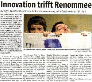 Artikel aus dem Wochenblatt Weil am Rhein vom 08. Juni 2011