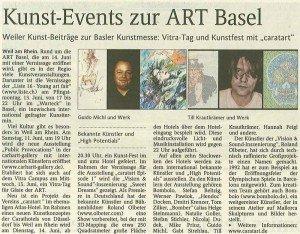 Artikel im Oberbadischen Volksblatt vom 09. Juni 2011