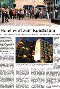 Artikel in der Weiler Zeitung (Teil Weil am Rhein) vom 16. Juni 2011