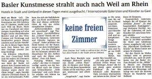 Artikel in der Weiler Zeitung vom 16. Juni 2011