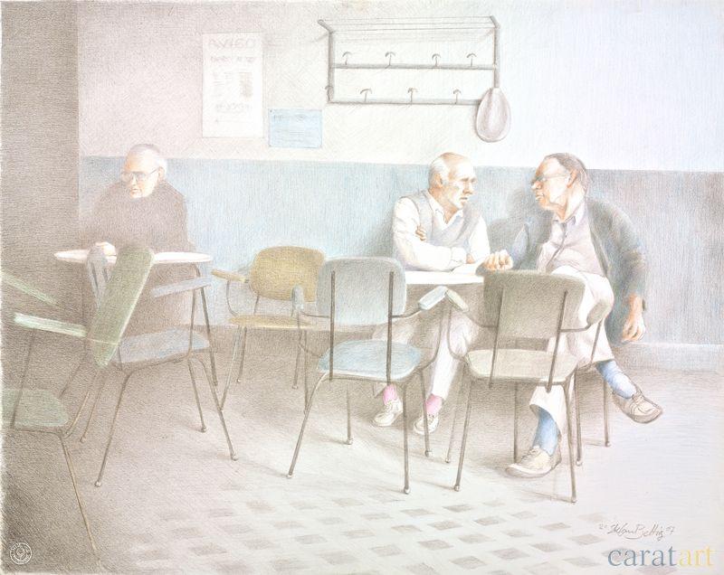 """Zeichnung von Stefan Beltzig aus dem Zyklus """"Spanish Coffee"""""""