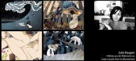 Werke aus der Bilderserie zu Alice im Wunderland