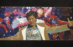 Von dort 01, Khan om shanti 01, Acryl auf Holz, 95 x 145 cm, 2009, 6.800 Euro